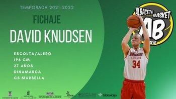 El danés David Knudsen llega al Albacete Basket