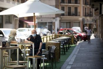 La zona azul de las terrazas, una segunda vida en los bares