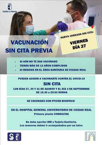 Toda la provincia comienza a vacunar sin cita