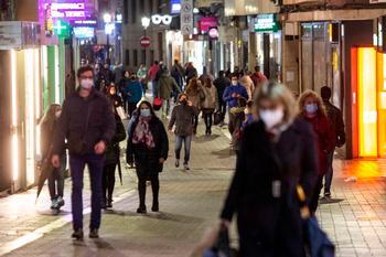 Imagen de una de las principales calles comerciales de la capital albacetense.