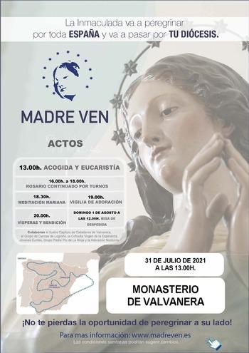 La Virgen Inmaculada de Éfeso llega a Valvanera este sábado
