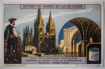 La Catedral, en un cromo europeo de 1925