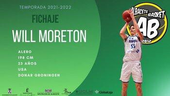 El Albacete Basket anuncia el fichaje de Will Moreton