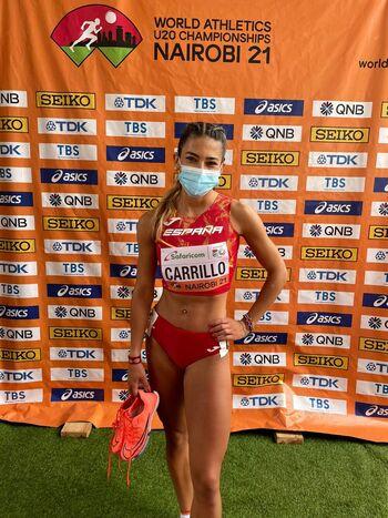 Lucía Carrillo, cuarta posición en el Mundial sub'20