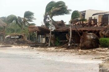 La tormenta tropical 'Grace' inunda la capital de Veracruz