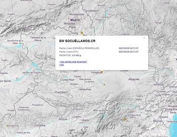 Registrado un terremoto en Socuéllamos