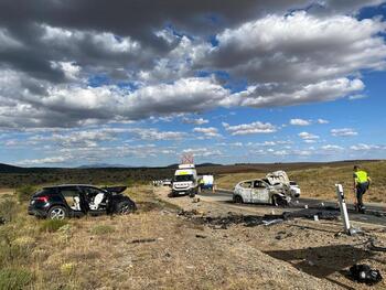 Dos fallecidos en un accidente en la N-122 en Fuentetecha