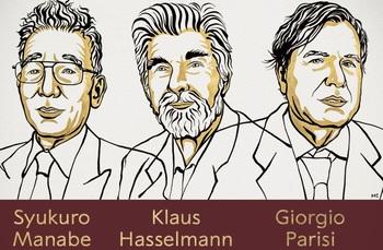 Los científicos Manabe, Hasselmann y Parisi, Nobel de Física