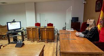 La magistrada Carolina Otero Bravo, en la sala de vistas del Juzgado de lo Social de Segovia.