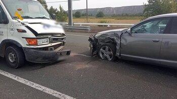 Detenido por causar un accidente en Albelda y no tener carné
