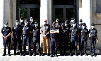 Rodríguez recibe a los nuevos agentes de Policía Nacional