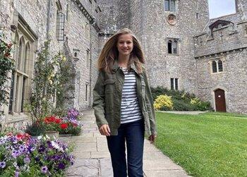 La Princesa Leonor, radiante en Gales