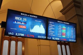 El Ibex 35 se queda a las puertas de los 8.300 puntos