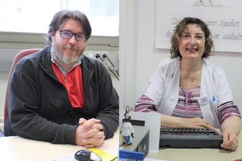 Los docentes Fernando Andrés Petrel y Pilar Córcoles.