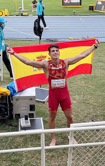 San Pastor, bronce en decatlón y récord de España sub-20