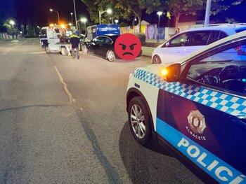 La Policía Local sorprendió a seis conductores borrachos