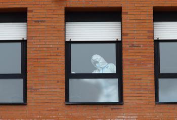 Actividad sanitaria en el Hospital del Bierzo, en Ponferrada (León).
