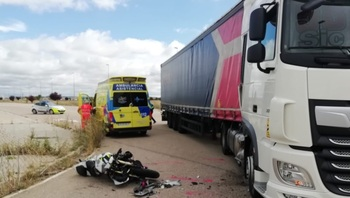 Heridos dos motoristas en dos accidentes en Aranda
