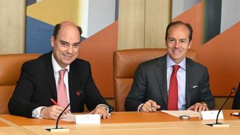Mapfre ofrecerá en sus oficinas productos del Banco Santande
