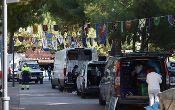 Mercado medieval y artesano en el Parque del Carmen