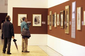 Exposición en 2011 de 'Creadores de los siglox XIX y XX. Dibujos', del fondo artístico de la antigua CCM