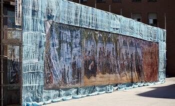 Retirarán todo el panel de San Clemente para restaurarlo
