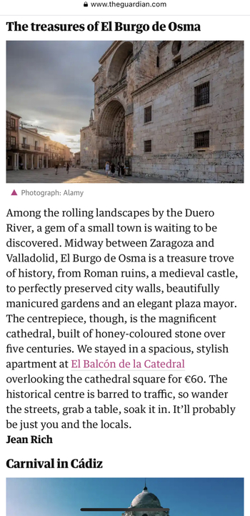 'The Guardian' elige El Burgo