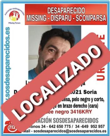 Aparece el hombre de 44 años desaparecido en Soria