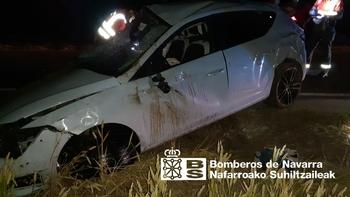 Un conductor herido tras sufrir una salida de vía en Murieta