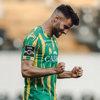 Mario González celebra uno de los 13 goles (12 en la Liga NOS, uno en Copa) que ha marcado este año en Portugal.