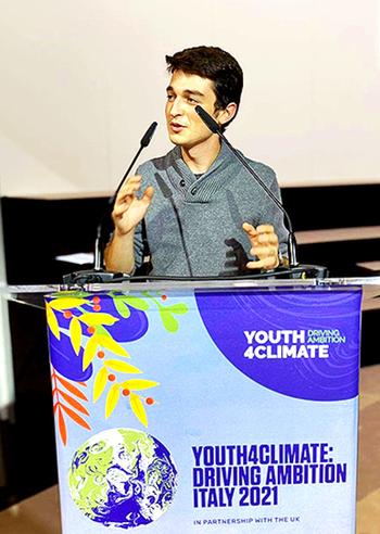 Alejandro Quecedo participa en una cumbre climática en Milán