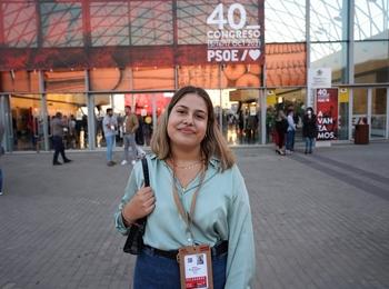 La leonesa Noelia Melón, la delegada más joven del Congreso