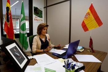 Rosario Velasco, portavoz del Grupo Municipal de Vox, en su despacho.