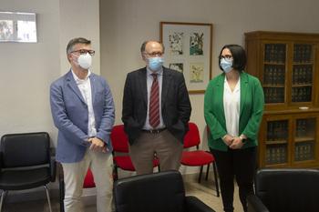 Mariano Esteban presenta en Ávila su candidatura a rector