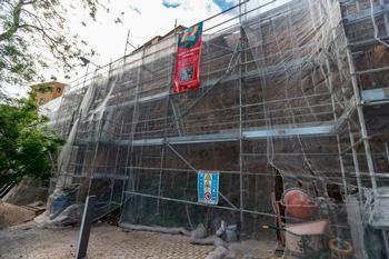 El Consorcio consolida el muro de las dominicas en La Granja