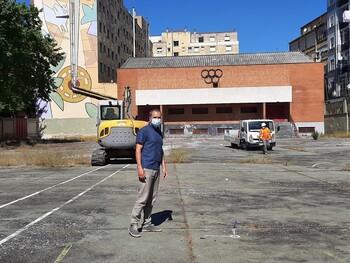 Comienzan las obras de la plaza en el solar de Maristas