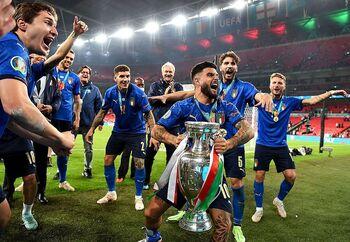 Celebración de los 'azzurri'.