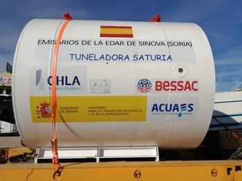 La tuneladora 'Saturia', ya en Soria