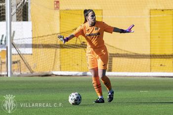 Elena de Toro, en un partido con el Villarreal.