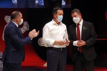 El alcalde de Albacete, Emilio Sáez, junto a García-Page, en un acto reciente.