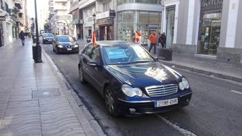 Un grupo de hosteleros protestó en la ciudad