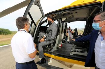 CyL incorpora un helicóptero de coordinación para incendios