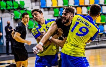 Jota Serrano, en el partido de la primera vuelta ante el Trapagaran.