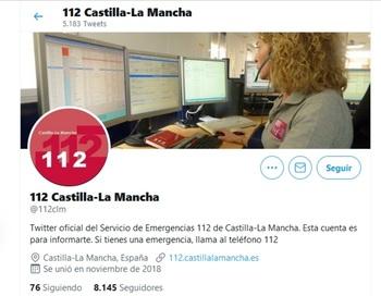 El perfil del 112 regional en Twitter suma 8.000 seguidores