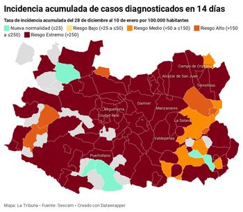 34 municipios marcan máximos de incidencia por COVID