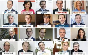 Los directivos más relevantes del sector financiero en España