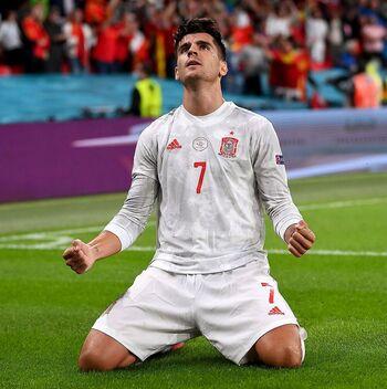 El seleccionador apostó por Morata pese a la presión y las críticas.
