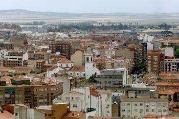 Imagen de varios bloques de viviendas de la capital.