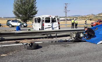 Dos fallecidos y dos heridos en un accidente en Burgos