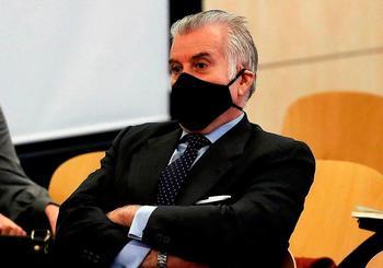 Bárcenas, en el banquillo de los acusados durante su última comparecencia en la Audiencia Nacional.